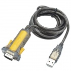 XINDAYING USB 2.0 Male to RS232 Serial Port Adapter Cable - Yellow + Black (168cm)