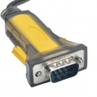 XINDAYING USB 2.0 macho a RS232 Serial Port Adapter Cable - Amarillo + Negro (168cm)