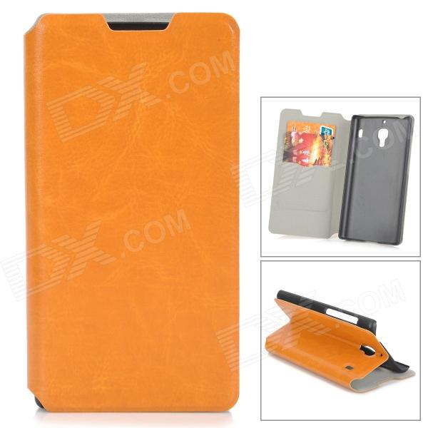 Protective TPU + ABS Case w/ Card Holder Slots for Xiaomi Hongmi Red Rice - Brown + Black