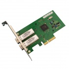 Winyao WYI350-F2 PCIe X4 Dual Port Server 1000SX Network Card Adapter - Green + Silver