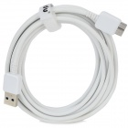 LIDU T-N3 Micro USB 9Pin Male to USB 3.0 Male Data / Charging Cable for Note 3 - White (3m)