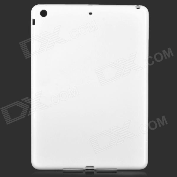 Protective PVC Back Case + PET Screen Guard Film Set for IPAD AIR - Milky White high quality pet protective screen protector for ipad air white 5pcs