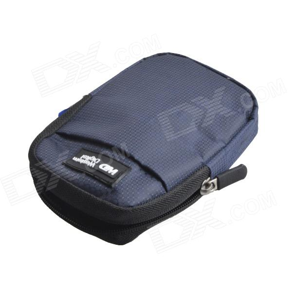 WD AYA-203 Protective Nylon Bag for 2.5 HDD / Camera + More - Blue + Black