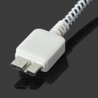 2-USB AC EU Plug Power Adapter w/ Micro USB 3.0 9-Pin Cable - White