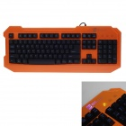 R8 KB-1837 ESports Games USB Wired 104-key Keyboard - Orange + Black (165cm-Cable)