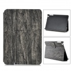 Wood Grain Style Protective PU + PC Flip-Open Case for RETINA IPAD MINI - Grey