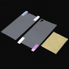Beskyttende Matte Screen Front + Back Beskyttere for Sony Xperia Z1 / L39H / C6902