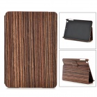 Wood Grain Style Protective PU + PC Flip-Open Case for IPAD MINI 2 - Wooden Brown
