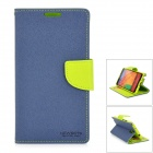 Protective Plastic + Fabric Case for Samsung Galaxy Note 3 - Dark Blue + Green