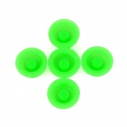 LSON 1.8cm Glow-in-the-Dark Silicone Switch Cap for Flashlight - Green (5 PCS)