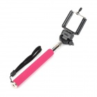 3-in-1 Adjustable Handheld Selfie Monopod for Gopro HERO Camera / Cell Phone - Deep Pink (22~105cm)
