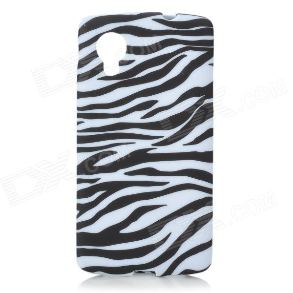 Zebra-stripe Pattern Protective Silicone Case for Google Nexus 5 - White + Black taifun блузa taifun qc47103116166 60419