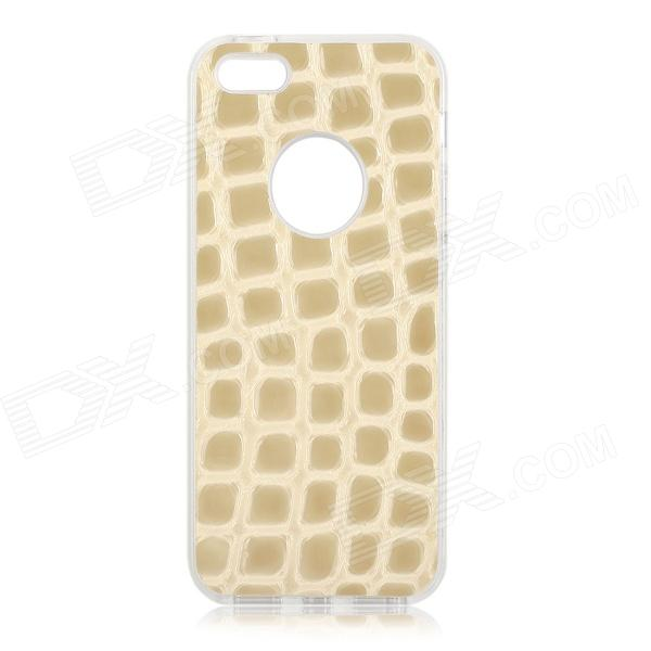 S-What Protective TPU + PC Back Case para IPHONE 5 / 5S - Cinza + Branco