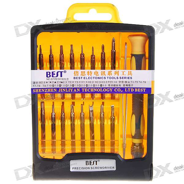 Precision Screwdrivers for Electronics DIY (34-Piece Set) portable 12 in 1 precision screwdrivers for electronics diy