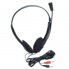 PC-610 Stereo Headset w/ Microphone - Black (3.5mm Plug / 150cm-Cable)