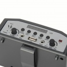 YSX-68 Portable Multi-function Amplifier w/ TF Card Slot + USB + FM Radio - Black