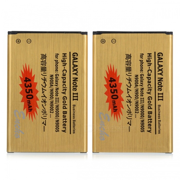 Replacement 3.7V 4350mAh Li-ion Battery for Samsung Galaxy Note 3 - Golden (2 PCS)