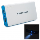 "Dual USB 3.7V ""20000mAh"" Li-ion Battery Power Bank for IPHONE / IPAD AIR + More - White + Blue"