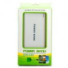 """20000mAh"" Li-ion Battery Dual USB Power Bank for IPHONE - White+Blue"