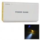 "Dual USB 3.7V ""20000mAh"" Li-ion Battery Power Bank for IPHONE / IPAD AIR + More - White + Yellow"
