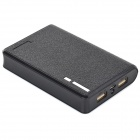 """10000mAh"" Mobile Power Bank w/ Dual USB + LED Flashlight - Black"