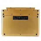IBK-06 Wireless Bluetooth V3.0 64-Key Keyboard Case w/ Detachable Rotation Stand for IPAD AIR-Golden