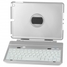 IBK-06 Detachable Rotatable Bluetooth v3.0 64-Key Keyboard Case for IPAD AIR - Silver