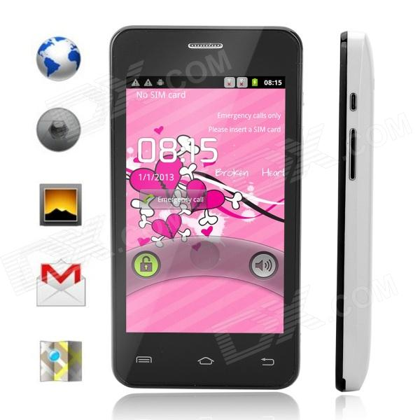 "Simtelep A7-T1 MTK6575 Android 4.0 GSM Bar Phone w/ 3.79"", Wi-Fi, Bluetooth - Black + White"