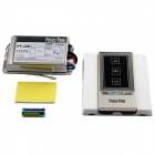 PY-J2E 1000Wx2 2-Channel RF Touch Remote Control Switch - Silver White + Black (200~240V)