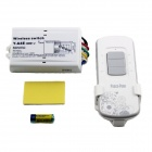 New Design Y-A4E 1000Wx4 4-Channel RF Remote Control Wireless Switch - White (200~240V)