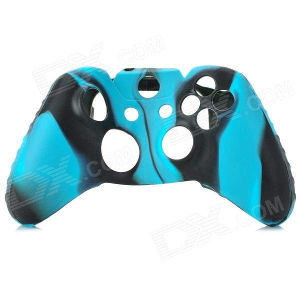 Protective Silicone Case for XBox One Controller - Black + Blue protective silicone cover case for xbox 360 controller yellow blue