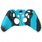 Protective Silicone Case for XBox One Controller - Black + Blue