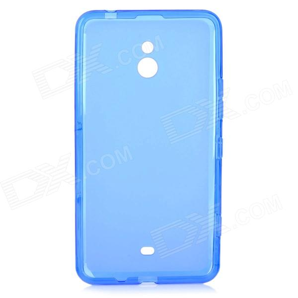 LX-1320 Stylish Protective TPU Back Case for Nokia Lumia 1320 - Translucent Blue s style protective soft tpu back case for nokia lumia 928 translucent grey