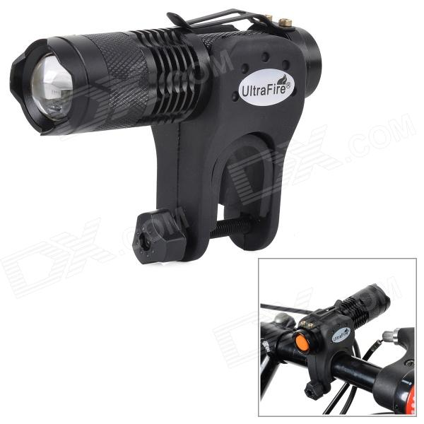 UltraFire SK68 100lm 1-LED Cool White Light 3-Mode Flashlight w/ CREE XR-E Q5 - Black brinyte s48 high power 1500 lumens 5 cree xr e q5 led police security flashlight military torch light with remote switch 18650