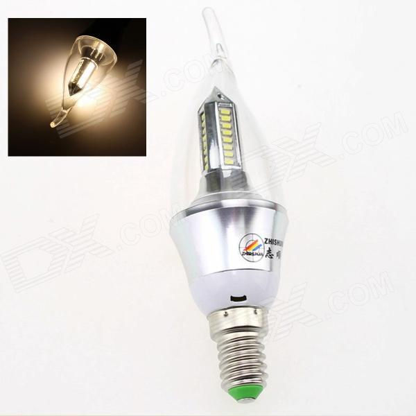 ZHISHUNJIA E14 4W 280lm 3000K 40 x SMD 3014 LED Warm White Light Bulb - Silver (AC 85~265V)