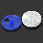 360 Degree Rotation Round Shape 7-Day 7-Compartment Medicine Pill Storage Box - White + Blue
