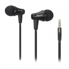 AWEI ES300i In-Ear-Ohrhörer w / Mikrofon für iPhone + More - Schwarz (3,5-mm-Stecker / 120cm-Kabel)