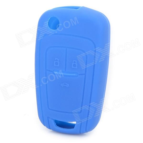 GEL140105 Protective Silicone Car Key Case for Chevrolet - Blue