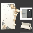 Elegant Tassel Series Protective PU Leather Case for Samsung Galaxy Note 3 N9000 - White + Silver