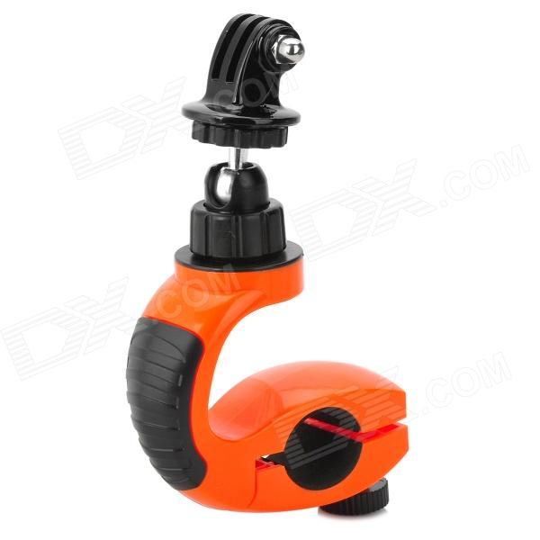 Motorcycle Bike Handlebar Mount Holder for Camera + Gopro - Orange + Black toz bike motorcycle handlebar seatpost mount holder w 1 4 screw for gopro sj4000 other dv