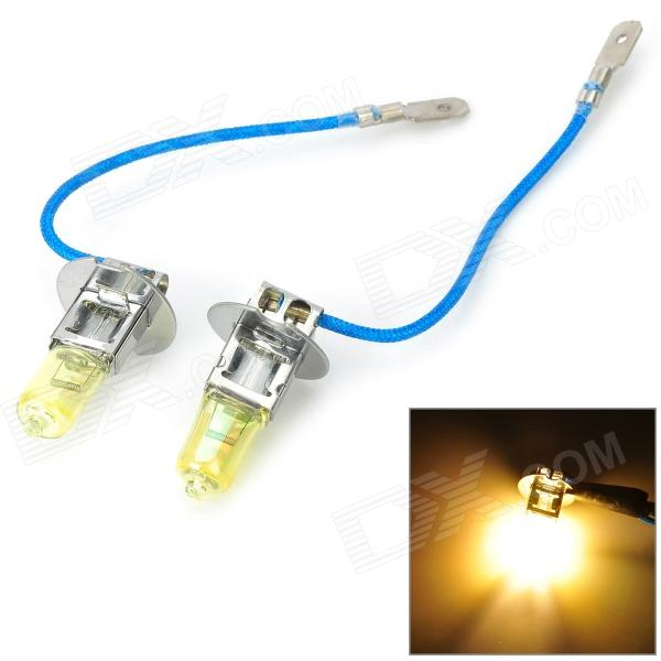Highlight H3 100W 1300lm Orange Light Car Halogen Lamp - (12V / 2 PCS)