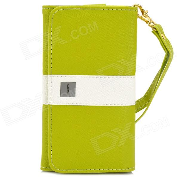 Universal Protective PU Leather Case Cover w/ Card Slots for Cellphones within 4.7