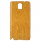 Wood Grain Protective ABS Back Case for Samsung Galaxy Note 3 N9000 - Wood + Brown