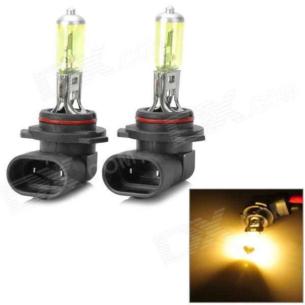 9006 80W 800lm Orange Light Car Halogen Lamp - (12V / 2 PCS)
