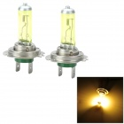 H7 100W 1100lm Orange Light Car Halogen Lamp - (12V / 2 PCS)