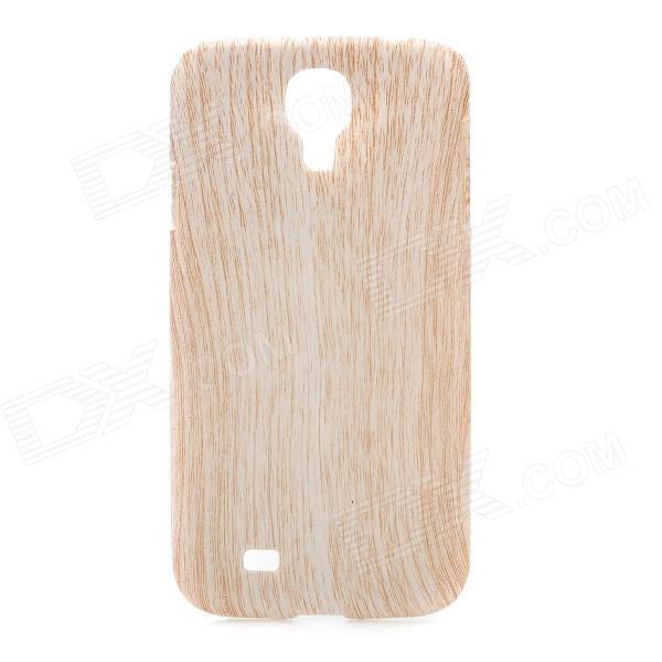 Wood Grain Protective ABS Back Case for Samsung Galaxy S4 i9500 - Light Yellow dynamic 3d skull pattern protective back case for samsung galaxy s4 i9500 black