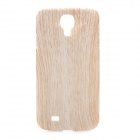 Wood Grain Protective ABS Back Case for Samsung Galaxy S4 i9500 - Light Yellow