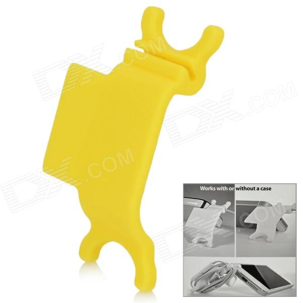RX-01 Universal Earphone Mobile Phone Cables Organizer / Winder - Yellow