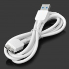 USB 2.0 mann Micro USB 3.0 9-pinners mannlige Data synkronisere / ladekabel for Samsung Galaxy Note 3 - hvit