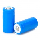 3.7V 500mAh Rechargeable 16340 Battery - Blue (2 PCS)